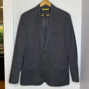 INC slim fit grey cotton 2 button blazer sport coat